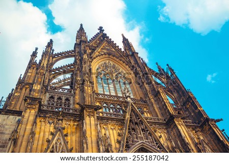 Cologne Cathedral. World Heritage - a Roman Catholic Gothic cathedral in Cologne. - stock photo