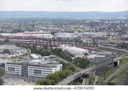 Aeria View City Berlin Germany Stock Photo 202843621
