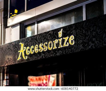 Cologne, Germany - January 29, 2017: Accessorize store facade. Founded in 1983, the English company provides bags, purses, jewellery, shoes, accessories, gifts and beachwear
