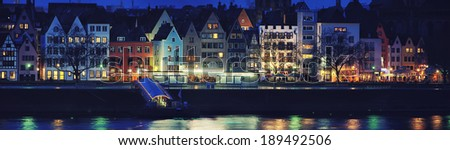 Cologne, Germany. Panoramic view of city center. - stock photo