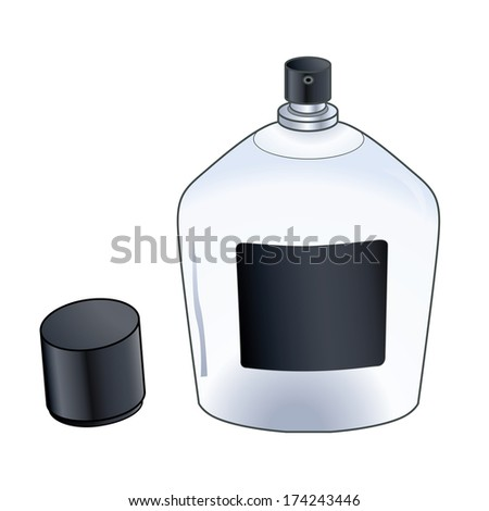 Cologne spray bottle isolated on a background.