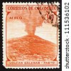 COLOMBIA - CIRCA 1954: a stamp printed in the Colombia shows Galeras Volcano, Andean Stratovolcano, Colombia, circa 1954 - stock photo