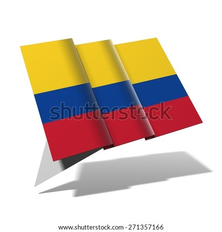 Colombia flag 3D banner - stock photo