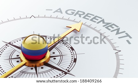 Colombia High Resolution Agreement Concept - stock photo