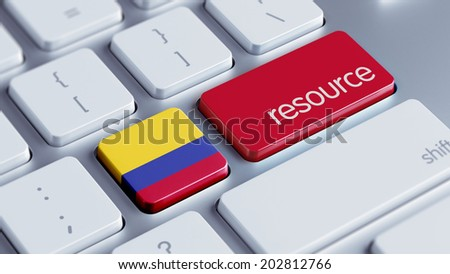 Colombia High Resolution Resource Concept - stock photo