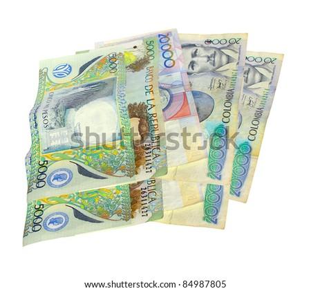 Colombian money, - stock photo