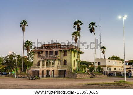 Colon City hall a city in the province of Entre Riaos, Argentina, located in the east of the province, on the western shore of the Uruguay River. - stock photo