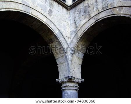 Colonial archways in Guadalajara,Mexico - stock photo