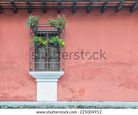 colonial balcony - stock photo