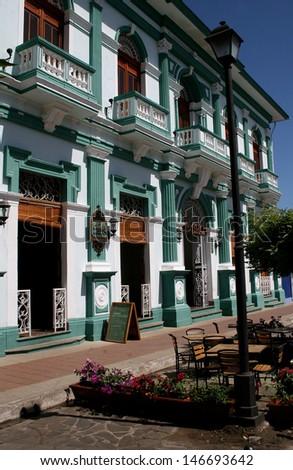 Colonial Building, Granada, Nicaragua - stock photo
