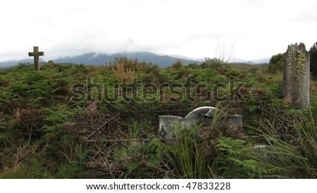 Colonial Graveyard in Australia - stock photo