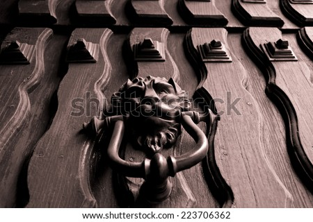 Colonial house handle - stock photo