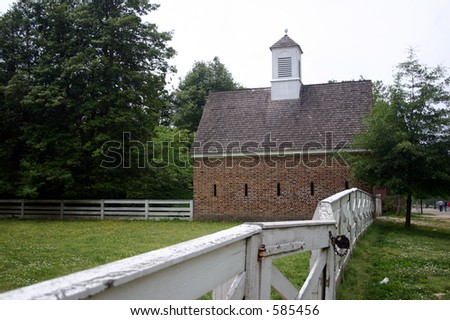 Colonial Williamsburg Farm - stock photo