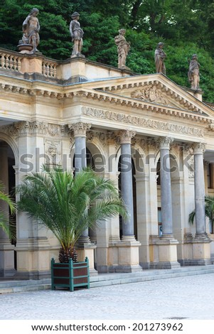 Colonnade in Carlsbad - stock photo