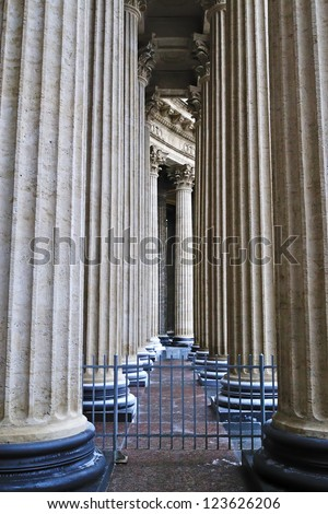 colonnade of the Kazan Cathedral in St. Petersburg (Russia)