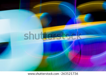 Color abstract  blur lights in motion - stock photo