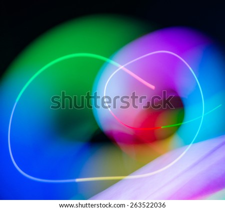 Color abstract line blur lights in motion background - stock photo