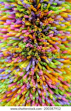 Color abstract of straw - stock photo