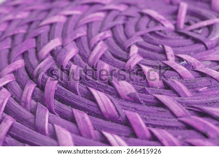 Color background from circular wicker pattern texture  - stock photo