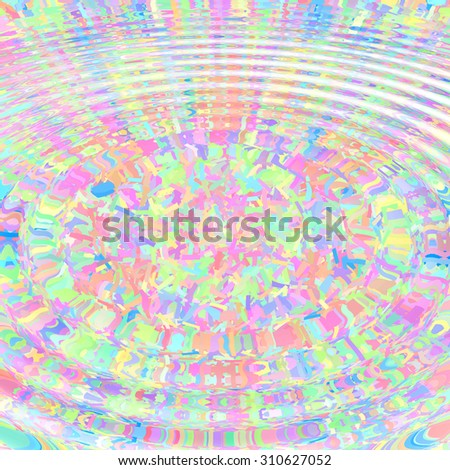 Color background with abstract pattern and water ripples - stock photo