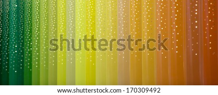 color bars construction under snow - stock photo