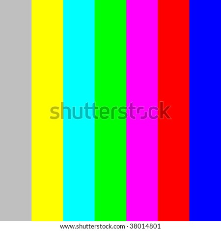 smpte television test pattern ntsc color stock vector