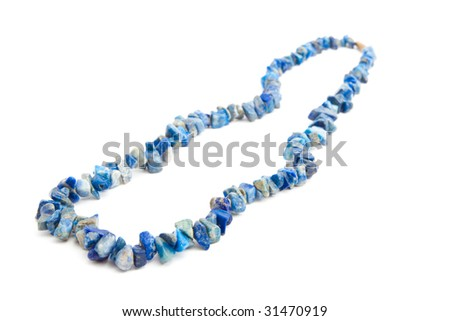 Color beads isolated on white