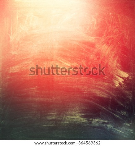 Color Chalkboard with Grunge Texture, school theme. Smooth Gradient Background with red and black. Vintage  - stock photo