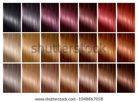 Color Chart Hair Dye Hair Color Stock Photo 1048867058 - Shutterstock