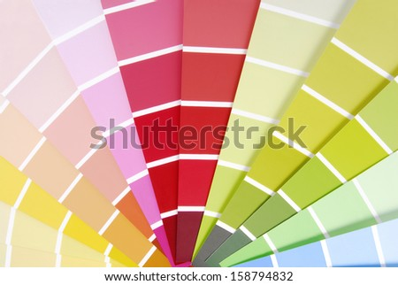 color chart guide sampler - stock photo