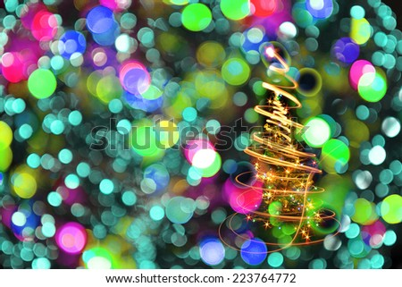 color christmas lights texture as nice holiday background - stock photo