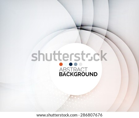 Color circles composition, rings, with shadows. Abstract background - stock photo