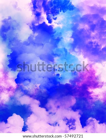 COLOR CLOUDS - stock photo