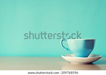 Color coffe cups  - stock photo