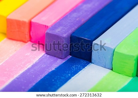 Color, colorful, chalk. - stock photo