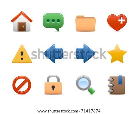 color computer icons for design website, blog or presentation - stock photo