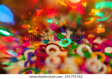 Color confetti  - stock photo