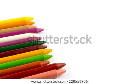 color crayon isolate, group
