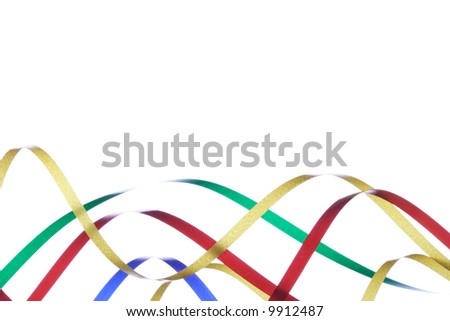 Color decorative tape on a white background