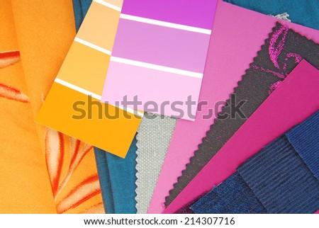 color design selection for interior - stock photo