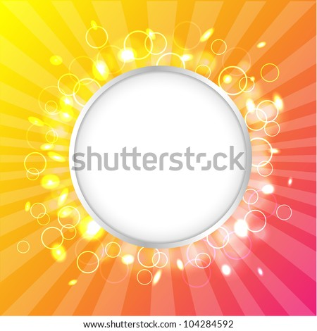 Color Design Template, Summer Poster - stock photo