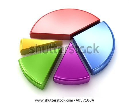 Color diagram isolated on white - stock photo
