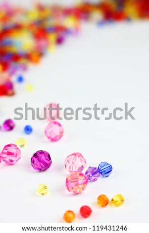 color diamond style luxury crystal balls and Christmas background - stock photo