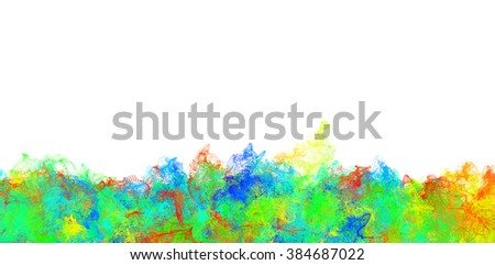 Color dot explosion isolated on white