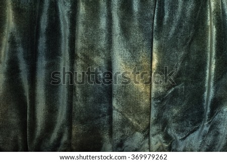 Color drapery of velvet fabric, background, abstraction - stock photo