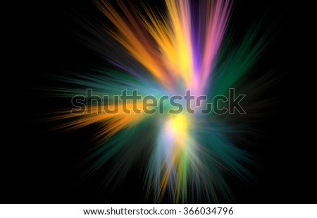 Color explosion in fractal image