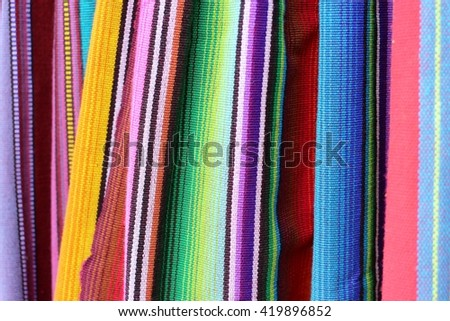 Color fabric in Central America