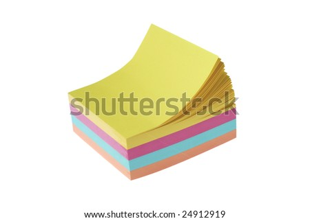 color ful note cube - stock photo