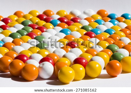 color full bubble gum - stock photo