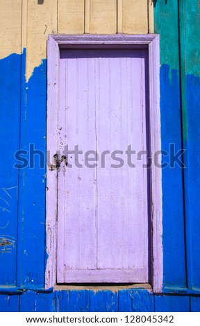 Color full door isolated - stock photo